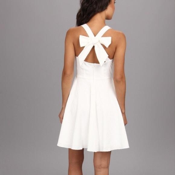 "Jessica Simpson ""Jacquard"" Bow Back Dress"